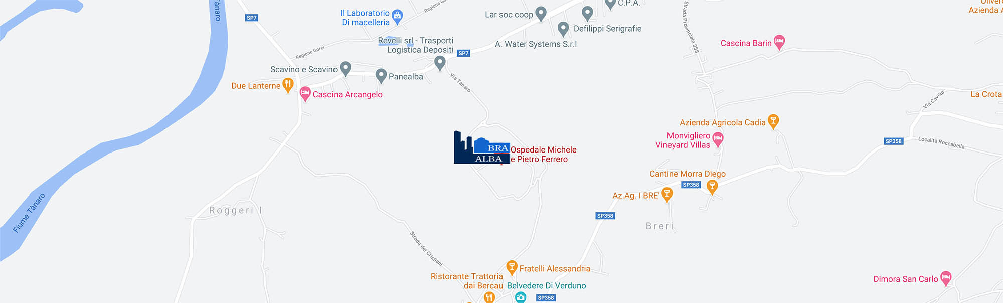 Collegamento mappa per raggiungere Ospedale di Verduno